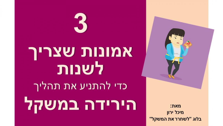 חשיבה והרזיה: 3 אמונות שצריך לשנות כדי להתניע את תהליך הירידה במשקל